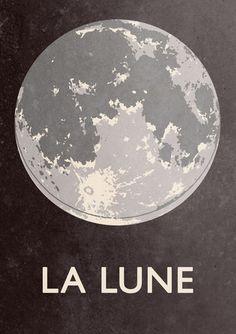'La lune' print можно в технике сериграфии