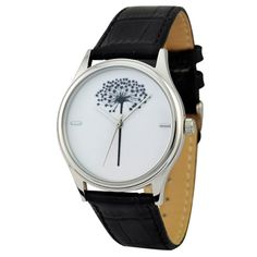 Black and White Flower Watch by SandMwatch on Etsy