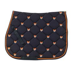 Fox All Purpose Saddle Pad - Black/Orange - Equus Now!