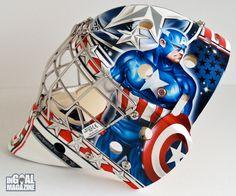 NHL Goalie Masks By Team   Comrie, Team Canada World Juniors hopeful, debuts Captain America mask ...