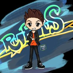My first fan-art for this great youtuber Rubius. I hope u like my drawing.  #tsukimaggy #originalwork #chibi #originalstyle #youtubers #rubius #elrubiusomg #fanart #digitalart #youtuber