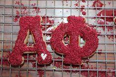 letter sprinkle cookies!