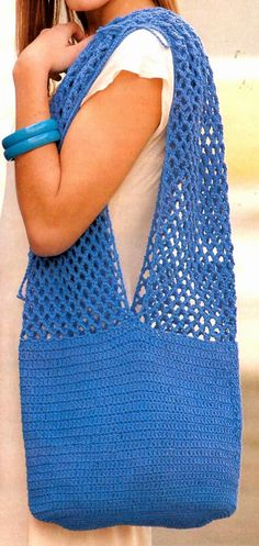 tejidos artesanales en crochet: bolso ideal para empezar a tejer