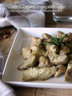 Pollo ai carciofi in padella, ricetta leggera Recipe Mix, Carne, Nom Nom, Chicken Recipes, Food And Drink, Healthy Recipes, Meat, Cooking, Drinks