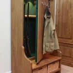 Concealed Gun Cabinet in Coat Rack/Bench