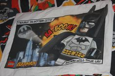Batman Lego Single Bed Duvet Cover with Matching Pillowcase Material for Upcycling by AtticBazaar on Etsy Bed Duvet Covers, Gotham City, Science Fiction, Pillow Cases, Lego, Batman, Handmade Gifts, Vintage, Etsy