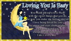 If loving them is easy then let them know with this sweet card. Free online Loving You Is Easy ecards on Love I Have No One, One Wish, Wish You Are Here, Say I Love You, You Make Me, Love You So Much, Romantic Words, Cute Love Cartoons, You Are Special