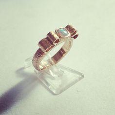 Gorgeous Rose gold and Opal Wedding ring, handmade commission bespoke www.jewelsfromem.co.uk