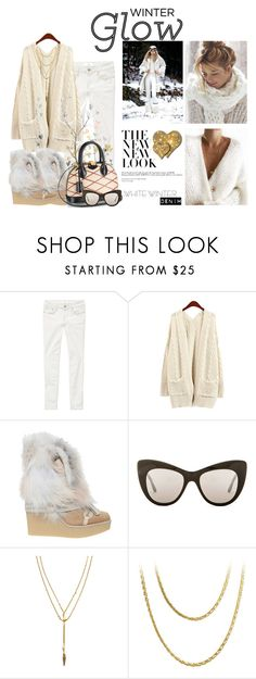 """""""On Trend: Winter White Denim"""" by slynne-messer ❤ liked on Polyvore featuring Chloé, Louis Vuitton, STELLA McCARTNEY, Vanessa Mooney and Cartier"""