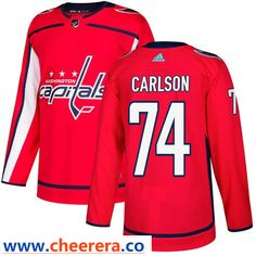 Men s Adidas Washington Capitals  74 John Carlson Authentic Red Home NHL  Jersey Red f7981eaf8