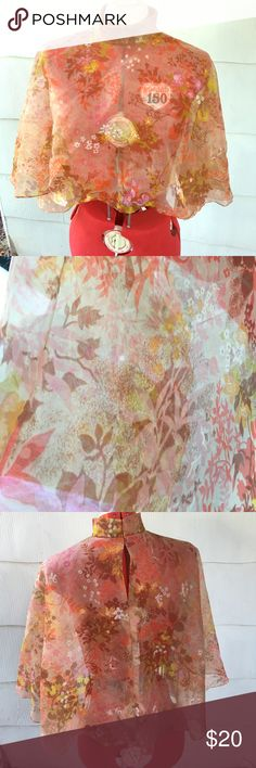 Vintage sheet floral print shall Fall inspired floral print shall in excellent vintage condition. Sheer chiffon, no tags. Great way to make a boring outfit pop. Accessories Scarves & Wraps