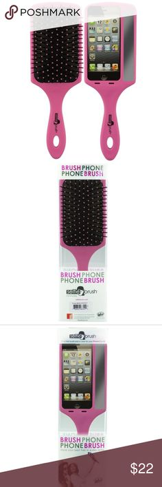 """Selfie brush The Best Selfies Ever With the Selfie Brush  """"First, let me take a selfie."""" The Wet Brush introduces the Selfie Hair Brush, the first paddle brush that's also a smart phone case, with a handle to help people take better selfies. A fabulous paddle brush and mobile phone case in one! Have your best hair in every selfie with the Selfie Brush. Fits iPhone 5 and 5S. A smart phone case and paddle brush in one Features a mirror alongside iPhone Your best hair in every selfie Fits…"""