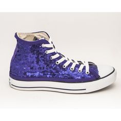 710df46d432 Tiny Sequin Starlight Plum Purple Sequin Converse All Star Hi Top... ( 130)  ❤ liked on Polyvore featuring shoes
