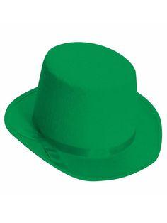 Halloween Deluxe Felt Green Top Hat
