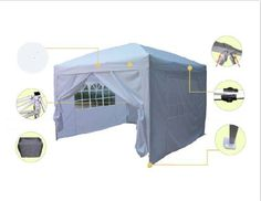 Quictent® Ⅱ10x10 EZ Pop Up Party Tent Canopy White 4 Walls With Winbar Reinforced Quictent http://www.amazon.com/dp/B00F32ZY88/ref=cm_sw_r_pi_dp_TUABvb10YYASD