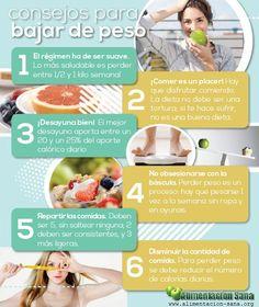 Tips para bajar de peso #dieta