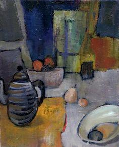 """Soupente""-Bénédicte Garnier-Fihey. Oil on canvas"