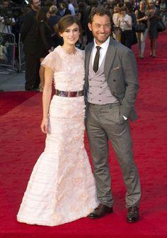 """Keira Knightley i Jude Law na londyńskiej premierze filmu """"Anna Karenina"""" (fot. Bulls)"""