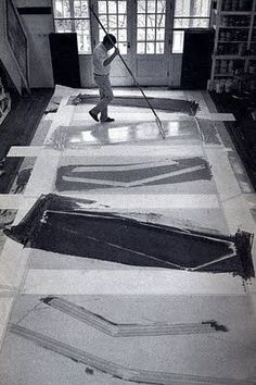 Kenneth Noland 1924-2010. One of the kings of the postwar Color Field School of Painting.