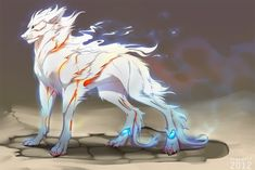 Repent by Grypwolf on DeviantArt Mystical Animals, Mythical Creatures Art, Magical Creatures, Fantasy Wolf, Fantasy Beasts, Dark Fantasy Art, Creature Drawings, Animal Drawings, Wolf Character