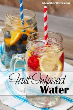 Make your water more interesting with this Fruit Infused Water Recipe