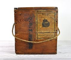 Wood Crate - manly men build things -too late this is sold out - great gift for dad