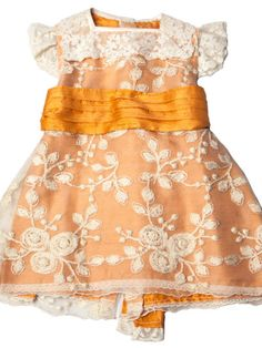 Vestido de niña naranja de seda Skirts, Fashion, Child Fashion, Fashion Guide, Orange Dress, Tulle, Silk, Dresses For Girls, Embroidery