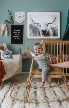 It& one of our 2018 Nursery Trends! Boho Scandinavian Boy& Nursery It& one of our 2018 Nursery Trends! Nursery Wall Decor, Nursery Design, Baby Room Decor, Nursery Room, Bear Nursery, Boy Nursery Art, Horse Nursery, Nursery Quotes, Babies Nursery