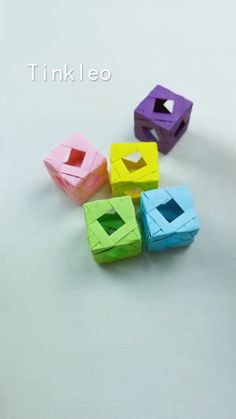 DIY Magic Hollow Cube Toy - Diy and crafts interests Diy Crafts Hacks, Diy Crafts For Gifts, Diy Home Crafts, Diy Arts And Crafts, Creative Crafts, Fun Crafts, Instruções Origami, Paper Crafts Origami, Oragami
