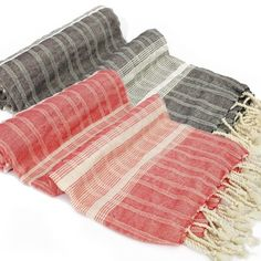 Pestemal Turkish towel woven of bamboo and cotton blended yarn. It can be used as sarong, beach towel or as throw with decorative purposes as well as bath towel. Bamboo Turkish towel is so absorbent although being fine and light.