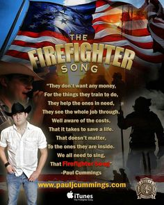 The Firefighter Song. Prayers going out to all the Wildfire Firemen still fighting the fires. Firefighter Family, Firefighter Paramedic, Firefighter Decor, Firefighter Quotes, Volunteer Firefighter, Firefighters Wife, Firemen, Firefighter Training, Firefighter Pictures