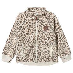 Kuling - Kuling x Kenza Wind Fleece Jakke Pale Leopard - Babyshop.no