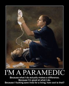 I want to know why this medic is more worried about pushing fluids than she is about her patient who appears to be unconscious, if not dead.