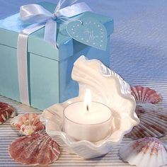 Open Shell Candle Favor by Beau-coup - super cute!