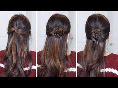 Festive Half Up Half Down Hairstyles | Hair Tutorial - YouTube