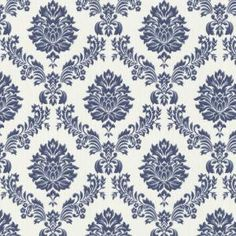 Graham & Brown 56 sq. ft. Costello Blue Wallpaper-31-577 at The Home Depot