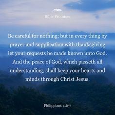 Bible Promises   Shared verse   Philippians 4:6-7