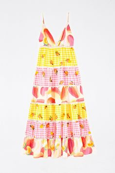 MIXED PICNIC CASHEW MAXI DRESS – FARM Rio White Prints, Mixing Prints, Lace Detail, Sunny Days, Color Mixing, Farm Rio, Picnic, Summer Dresses, Model