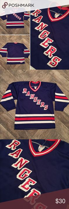 "VTG New York Rangers CCM Hockey Jersey Nice condition. Adult Size m. Fits like a Adult Large. Top to bottom 28 1/2"" pit to pit 21"" sleeve pit to wrist 21"" CCM Shirts Tees - Long Sleeve"