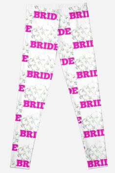 #Bride #BrideLeggings #leggings #bridalshower #bridalparty #bridalgift #wedding #weddinggift