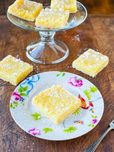 The Best Lemon Bars - Intensely lemony for those who love to pucker up. Tart, creamy, not too sweet, fast & easy! Recipe at averiecooks.com