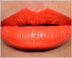 mac lipstick neon orange