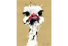 Mr Ostrich poster by Anna Wright