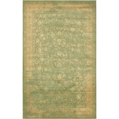 Victoria Light Green 5 ft. x 8 ft. Area Rug