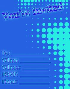You're Invited Invitations Free Printable Invitations, Printable Party, Party Invitations, Free Printables, Youre Invited, Sign I, Rsvp, Free Printable