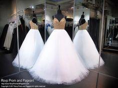 White/Gold Prom Dress