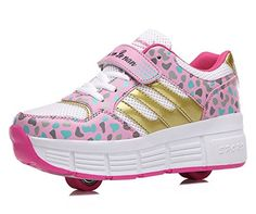 JandA Girls Boys Double Wheels Roller Shoes Skates Sneakers Kids Heelys *** Read more at the image link.