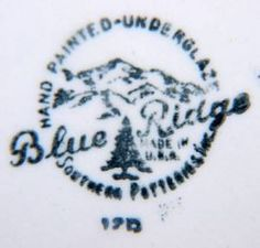 Image detail for -Blue Ridge Pottery by Southern Potteries Inc.
