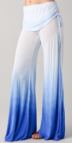 blue ombre yoga pants