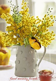 The perfect Flowers Butterfly Tea Animated GIF for your conversation. Discover and Share the best GIFs on Tenor. Good Morning Gif Images, Tea Gif, Butterfly Gif, Flowers Gif, Popular Flowers, Gifs, English Fun, Good Morning Friends, Flower Vases